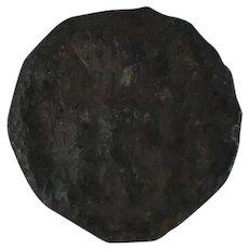 Ancient GalloBelgic Coin Rare Leuci Lily Potin Bronze 6040 Potin 17