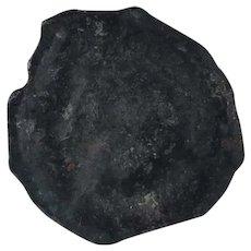 Ancient Celtic Coin Rare Leuci Lily Bronze 8020 Potin 17 Belgium Gual