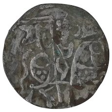 Ancient Indian Jital Coin Silver Khudarayaka Kabul Shahi 9951003 Last King