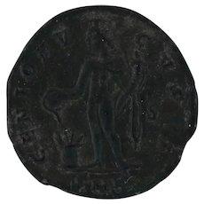 Ancient Roman Coin Rare AFE Follis Cyzicus Mint 309313 AD Maximinus II Copper