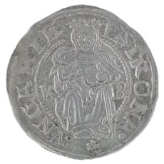 Ancient Hung Silver Madona Coin Rare Silver