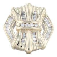 Single 0.20ctw Diamond Stud Statement Earring 10k Yellow Gold Pierced