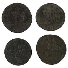 Ancient Artifact Coin Set of Four Roman Figural