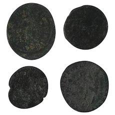 Ancient Artifact Coin Set of 4 Roman Figural
