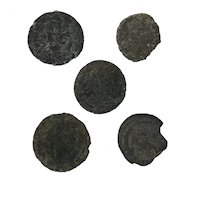 Ancient Artifacts Figural Roman Set of Five Coins