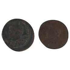 Ancient Coins Set of Two Roman Artifacts Figural