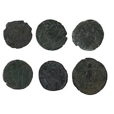 Ancient Artifact Coins Figural Roman Set of 6
