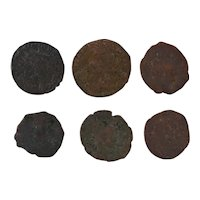 Ancient Artifact Roman Coins Figural Set of Six