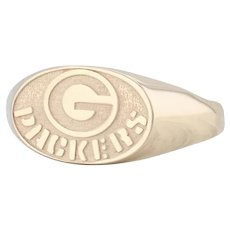 Green Bay Packers Ring - 10k Yellow Gold Size 12.25 NFL Football Souvenir
