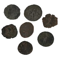 Mixed Lot of 7 Coins Figural Ancient Roman Artifacts
