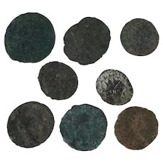 Lot of 8 Mixed Roman Coins Figural Ancient Artifacts