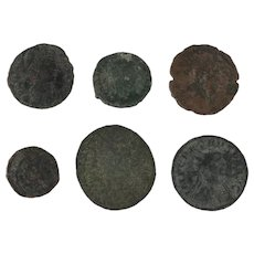 Lot of 6 Mixed Roman Coins Ancient Artifacts Figural