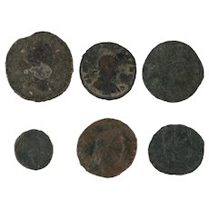 Mixed Ancient Roman Coins Lot of 6 Figural Artifacts