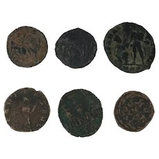 Ancient Artifacts Roman Coins Figural Mixed Lot of 6