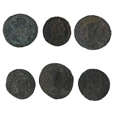 Ancient Coins Roman Artifacts Figural Mixed Lot of 6 B6237