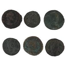 Ancient Coins Roman Artifacts Figural Mixed Lot of 6 B6240