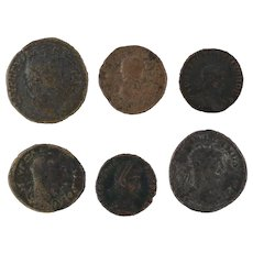 Ancient Coins Roman Artifacts Figural Mixed Lot of 6 B6245