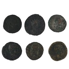 Ancient Coins Roman Artifacts Figural Mixed Lot of 6 B6246