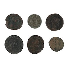 Ancient Coins Roman Artifacts Figural Mixed Lot of 6 B6252