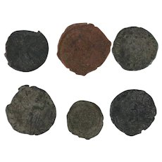 Ancient Coins Roman Artifacts Figural Mixed Lot of 6 B6307