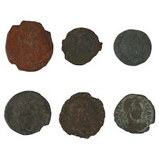 Ancient Coins Roman Artifacts Figural Mixed Lot of 6 B6309