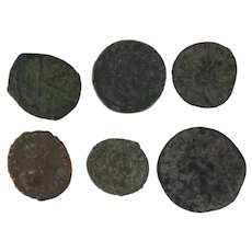 Ancient Coins Roman Artifacts Figural Mixed Lot of 6 B6332