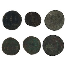 Ancient Coins Roman Artifacts Figural Mixed Lot of 6 B6333