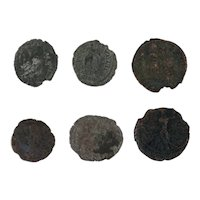 Ancient Coins Roman Artifacts Figural Mixed Lot of 6 B6336