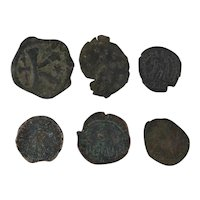 Ancient Coins Roman Artifacts Figural Mixed Lot of 6 B6337