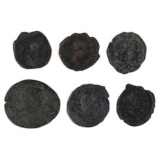Ancient Coins Roman Artifacts Figural Mixed Lot of 6 B6338