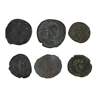 Ancient Coins Roman Artifacts Figural Mixed Lot of 6 B6339