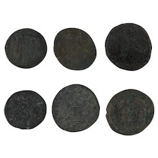 Ancient Coins Roman Artifacts Figural Mixed Lot of 6 B6343