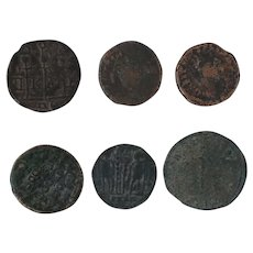 Ancient Coins Roman Artifacts Figural Mixed Lot of 6 B6348