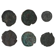 Ancient Coins Roman Artifacts Figural Mixed Lot of 6 B6354