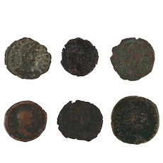 Ancient Coins Roman Artifacts Figural Mixed Lot of 6 B6355
