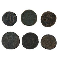 Ancient Coins Roman Artifacts Figural Mixed Lot of 6 B6357