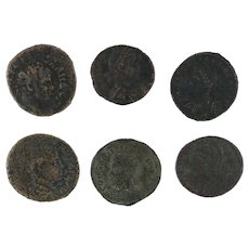 Ancient Coins Roman Artifacts Figural Mixed Lot of 6 B6359