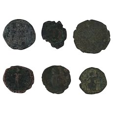 Ancient Coins Roman Artifacts Figural Mixed Lot of 6 B6362