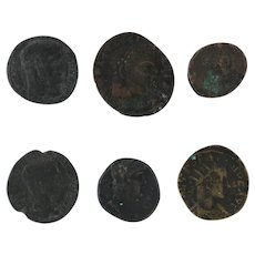 Ancient Coins Roman Artifacts Figural Mixed Lot of 6 B6364