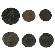 Ancient Coins Roman Artifacts Figural Mixed Lot of 6 B6365