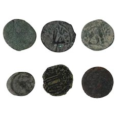 Ancient Coins Roman Artifacts Figural Mixed Lot of 6 B6423
