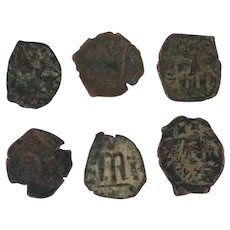 Ancient Coins Roman Artifacts Figural Mixed Lot of 6 B6425