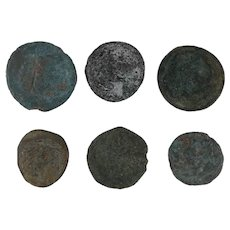 Ancient Coins Roman Artifacts Figural Mixed Lot of 6 B6428