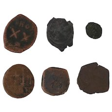 Ancient Coins Roman Artifacts Figural Mixed Lot of 6 B6429