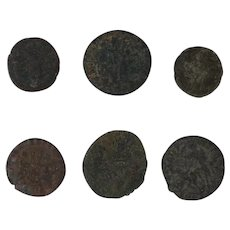 Ancient Coins Roman Artifacts Figural Mixed Lot of 6 B6430