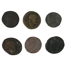 Ancient Coins Roman Artifacts Figural Mixed Lot of 6 B6433