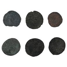 Ancient Coins Roman Artifacts Figural Mixed Lot of 6 B6434