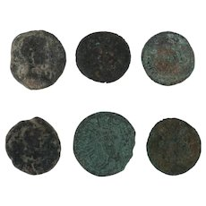 Ancient Coins Roman Artifacts Figural Mixed Lot of 6 B6438