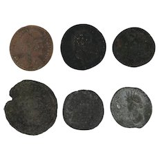 Ancient Coins Roman Artifacts Figural Mixed Lot of 6 B6440