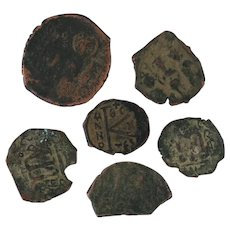 Ancient Coins Roman Artifacts Figural Mixed Lot of 6 B6442